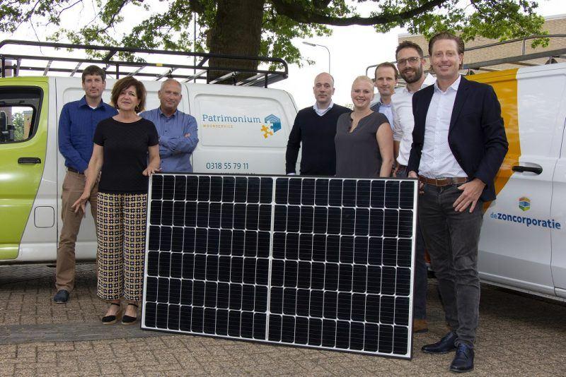 De Zoncorporatie - start project Patrimonium zonnepanelen