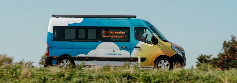 De Zoncorporatie - Promotiebus op de weg
